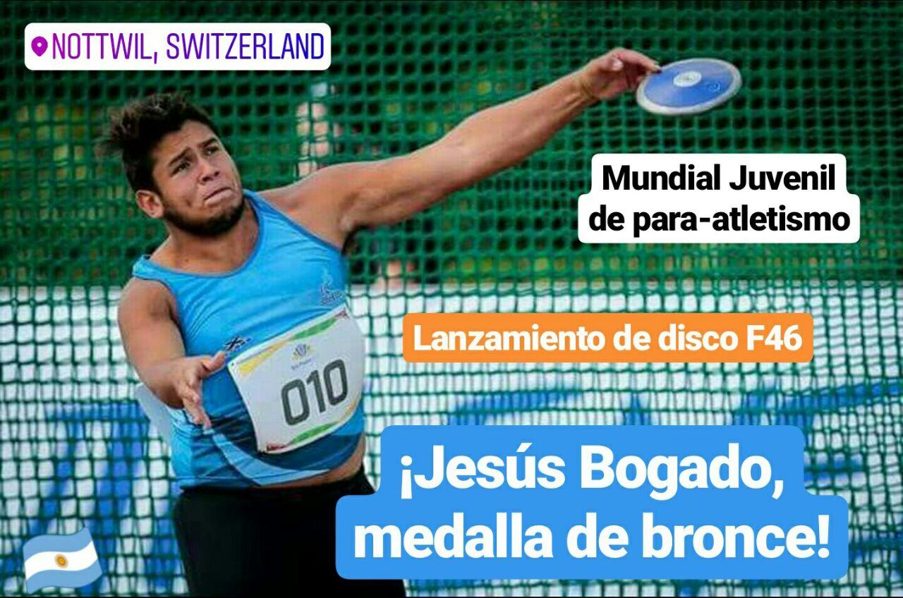 Mundial Juvenil de para-atletismo: ¡Jesús Bogado, medalla de bronce!