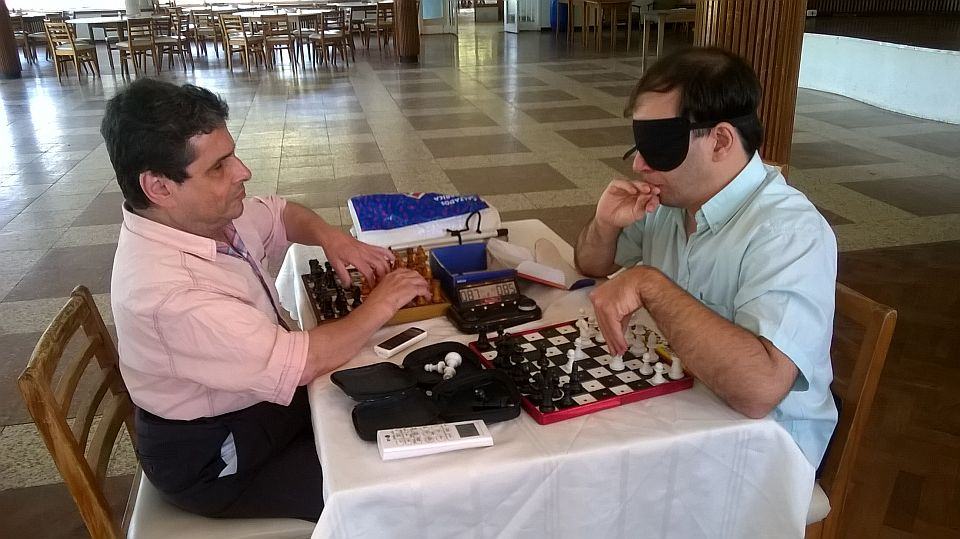 José Luis López, el ajedrecista ciego