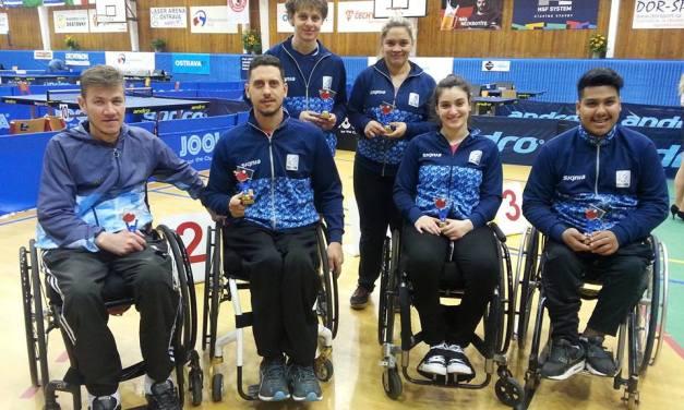 Tenis de mesa adaptado: seis medallas en República Checa
