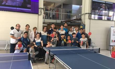 Tenis de mesa adaptado: exhibición en el Hospital Garrahan