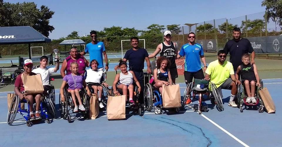 Tenis adaptado: finalizó el Junior Camp en Vicente López