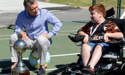 Powerchair footbal: Los Tigres de Pacheco visitaron a Macri