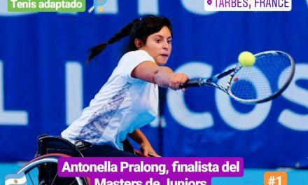Tenis adaptado: Antonella Pralong, finalista del Masters de Juniors