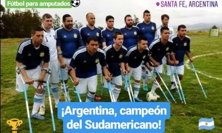Fútbol de amputados: Argentina goleó a Brasil y gritó campeón