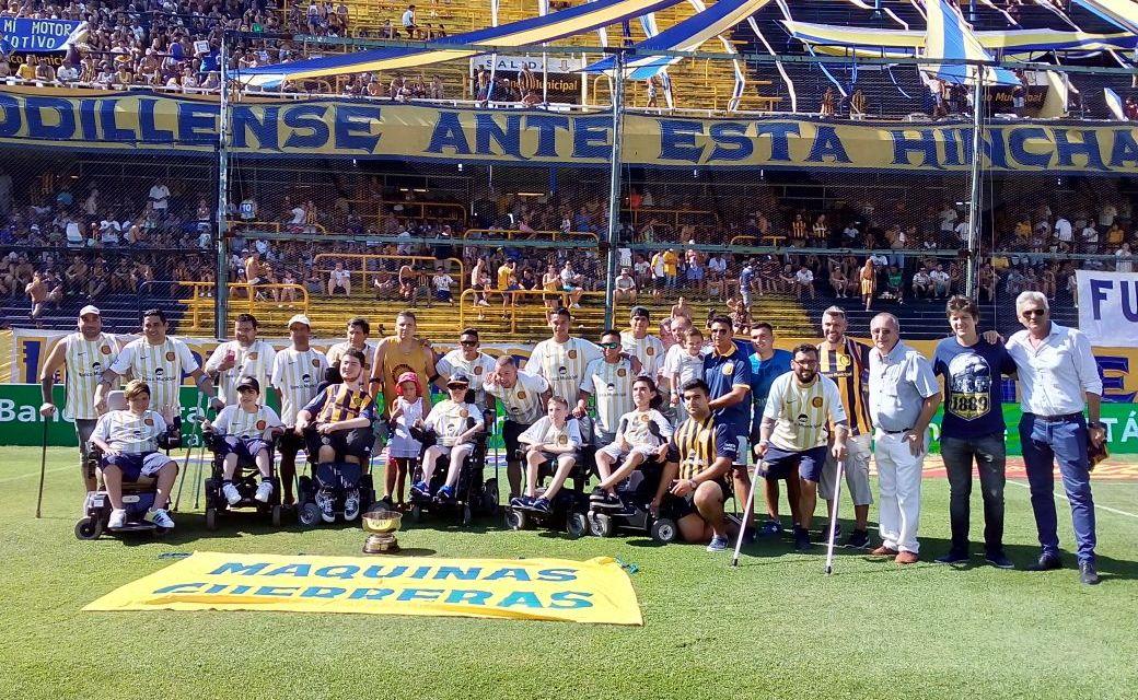 Rosario Central recibió a sus equipos de fútbol para amputados y powerchair football