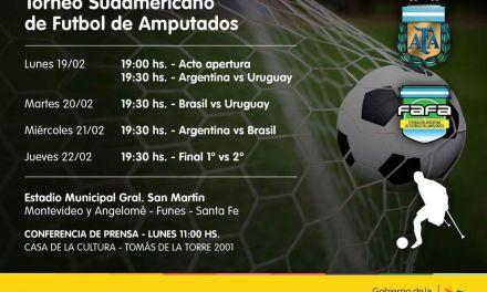 Fútbol de amputados: se confirmó el Torneo Sudamericano en Santa Fe