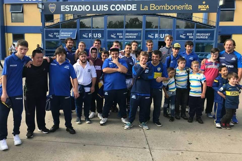 Rugby inclusivo: Los Pumpas visitaron La Bombonera
