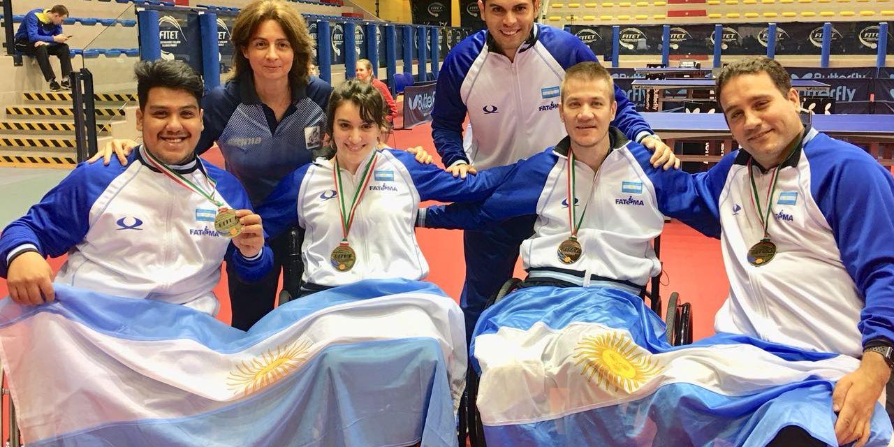 Tenis de mesa adaptado: cinco medallas en Italia