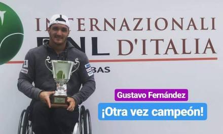 Tenis adaptado: ¡Gustavo Fernández, campeón en Roma!