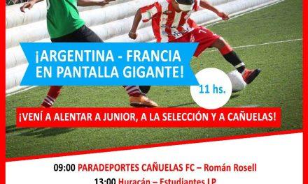 Fútbol 5 para ciegos: con Argentina-Francia en pantalla gigante, arranca en Cañuelas la Liga 2018