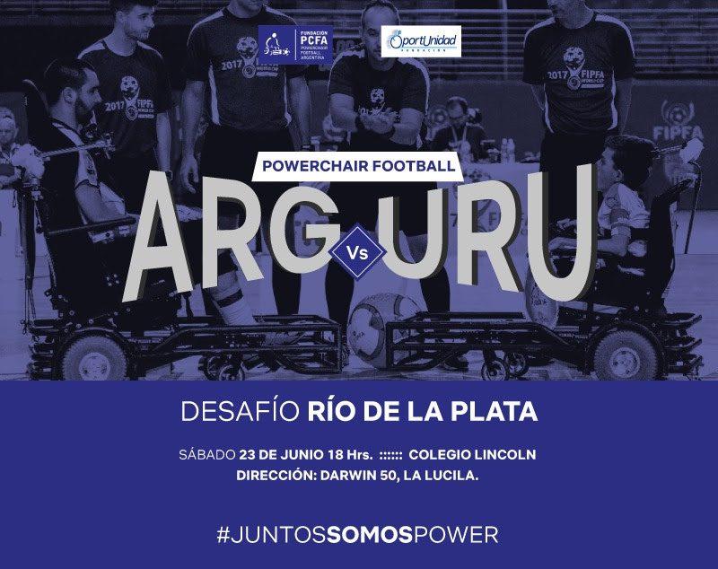 Powerchair football: amistoso de lujo ante Uruguay