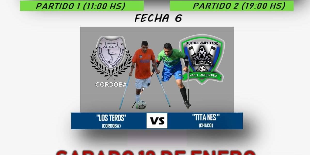 Fútbol para amputados: duelo de punteros en la Liga Nacional