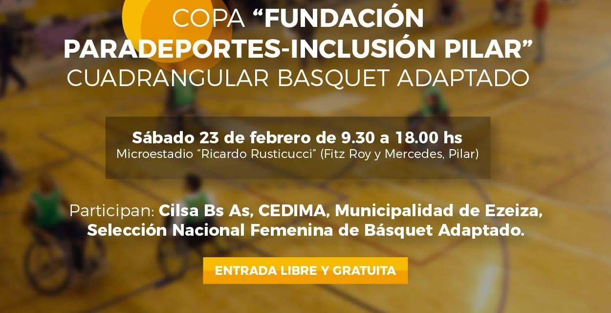 """Se viene la 1ra. edición de la """"Copa Fundación Paradeportes – Inclusión Pilar"""" de básquet adaptado"""