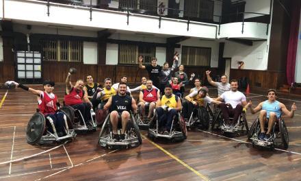 El plantel de SIC dio su apoyo al quad rugby argentino
