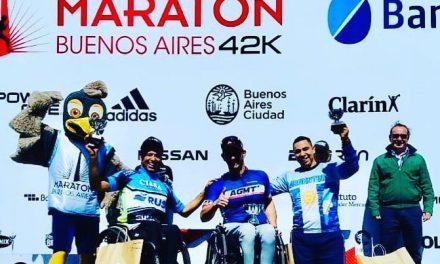 El atletismo adaptado tuvo su espacio en la Maratón de Buenos Aires