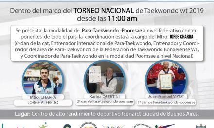 El parataekwondo, presente en el CeNARD