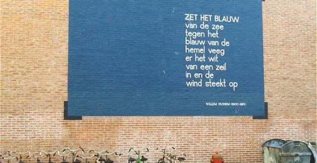 Poëzie op de muren van Leiden