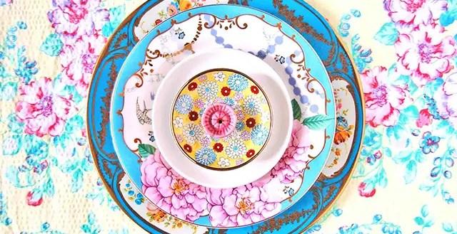 Fascinerende mandala's van servies
