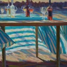 Juane Xue schildert met licht en schaduw