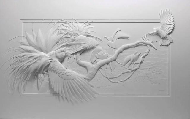 Dieren uit duizenden stukjes papier   Paradijsvogels Magazine
