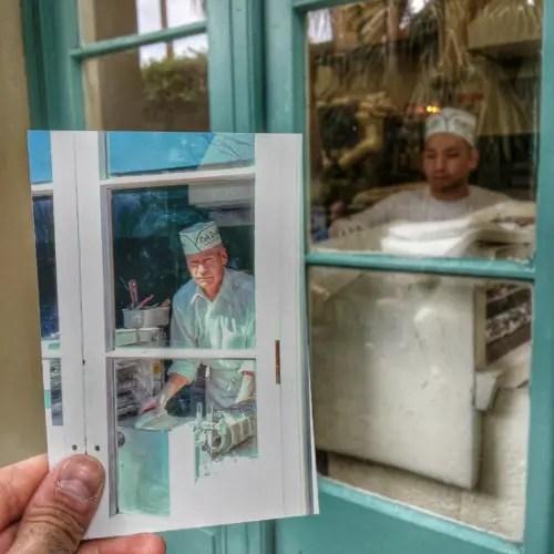 Medewerkers van Cafe Du Monde in New Orleans, Louisiana