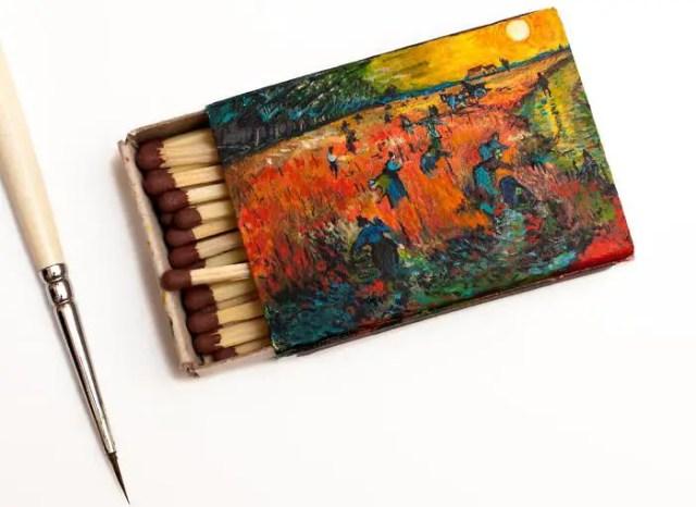 Salavat Fidai - miniatuurschildering luciferdoosjes (3)