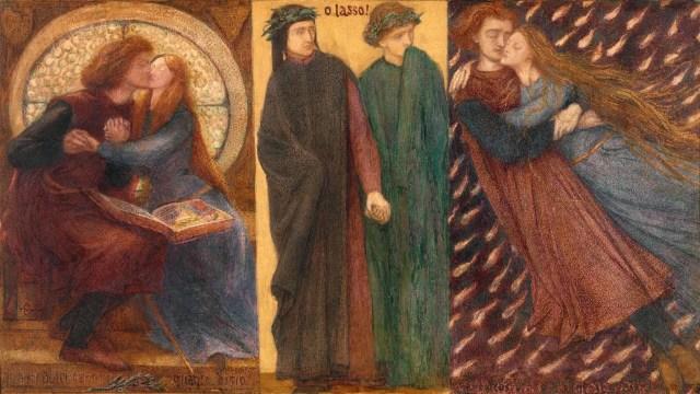 Illustratie bij het verhaal van Paolo and Francesca da Rimini
