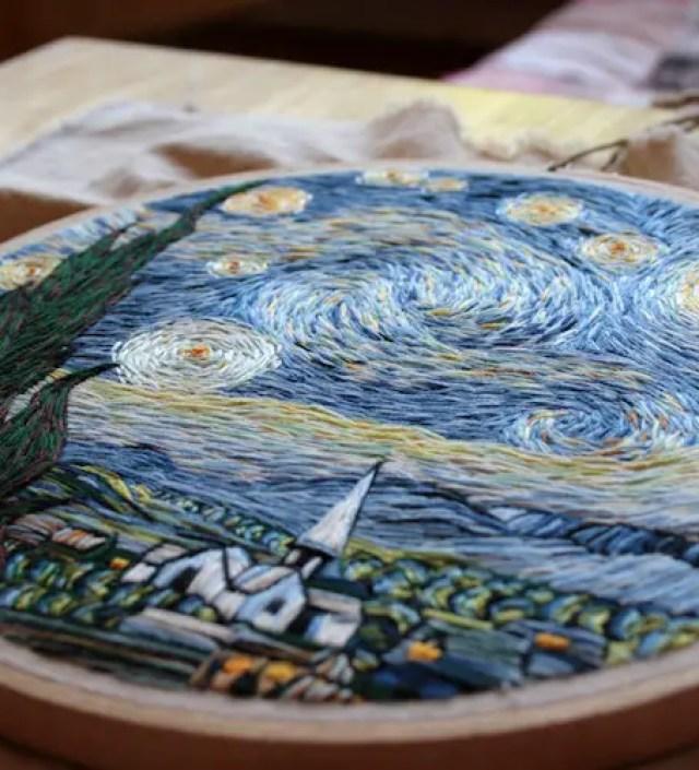 9 indrukwekkende schilderijen van naald en draad