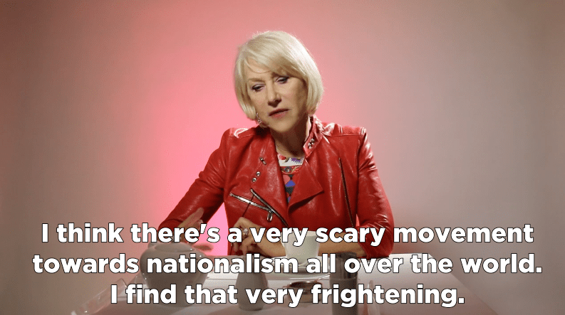 Helen Mirren scary movement