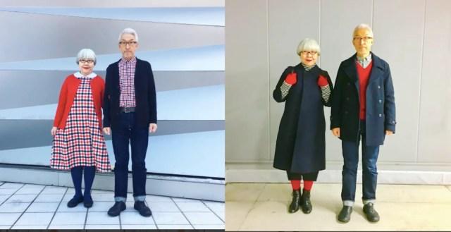 Dit echtpaar stemt al 37 jaar hun outfits naadloos op elkaar af