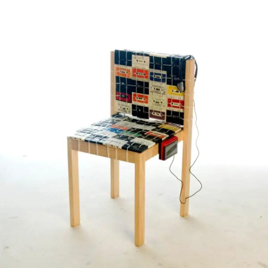 cassettebandje recycle stoel