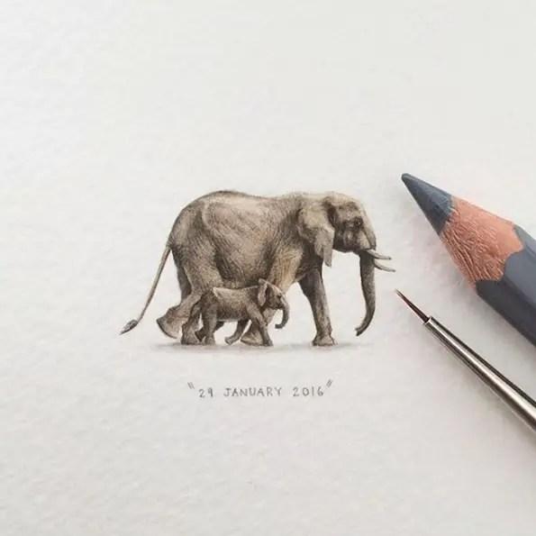 mini tekening
