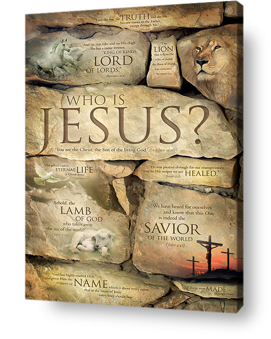 Christian Wall Decor   Who Is Jesus? Names Of Jesus