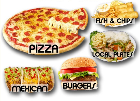 Image result for pizzas and burgers