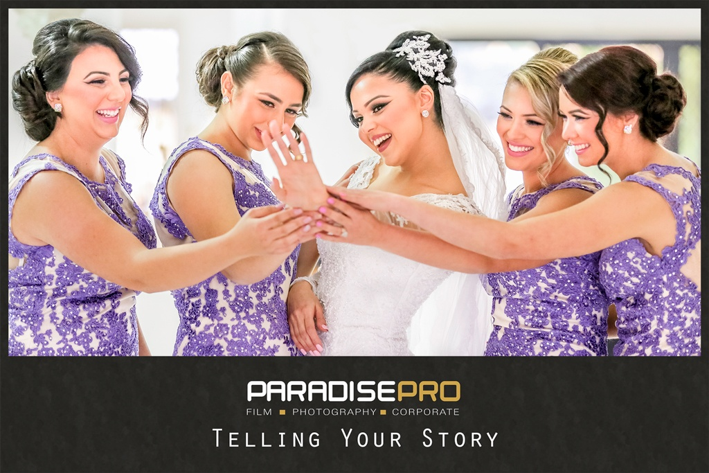 bride with her bridesmaids - The Sydney wedding video and photography specialists