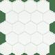 Uniwersalna Mozaika Szklana Paradyż Ivory Heksagon