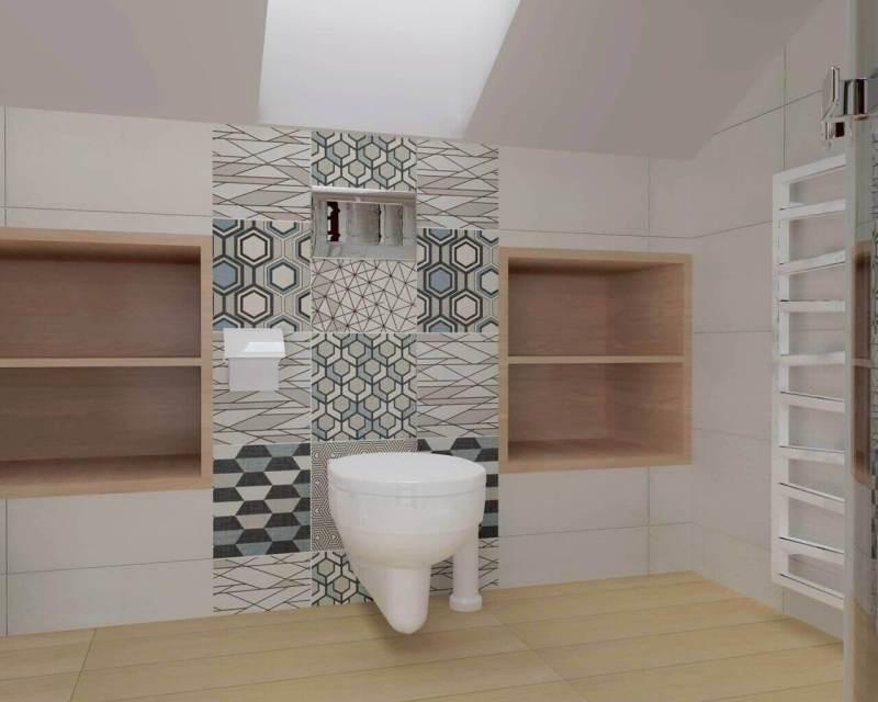 ванная в мансарде со скошенным потолком фото