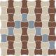 Modernizm Bianco Mozaika Prasowana K.3,6X4,4 Mix B