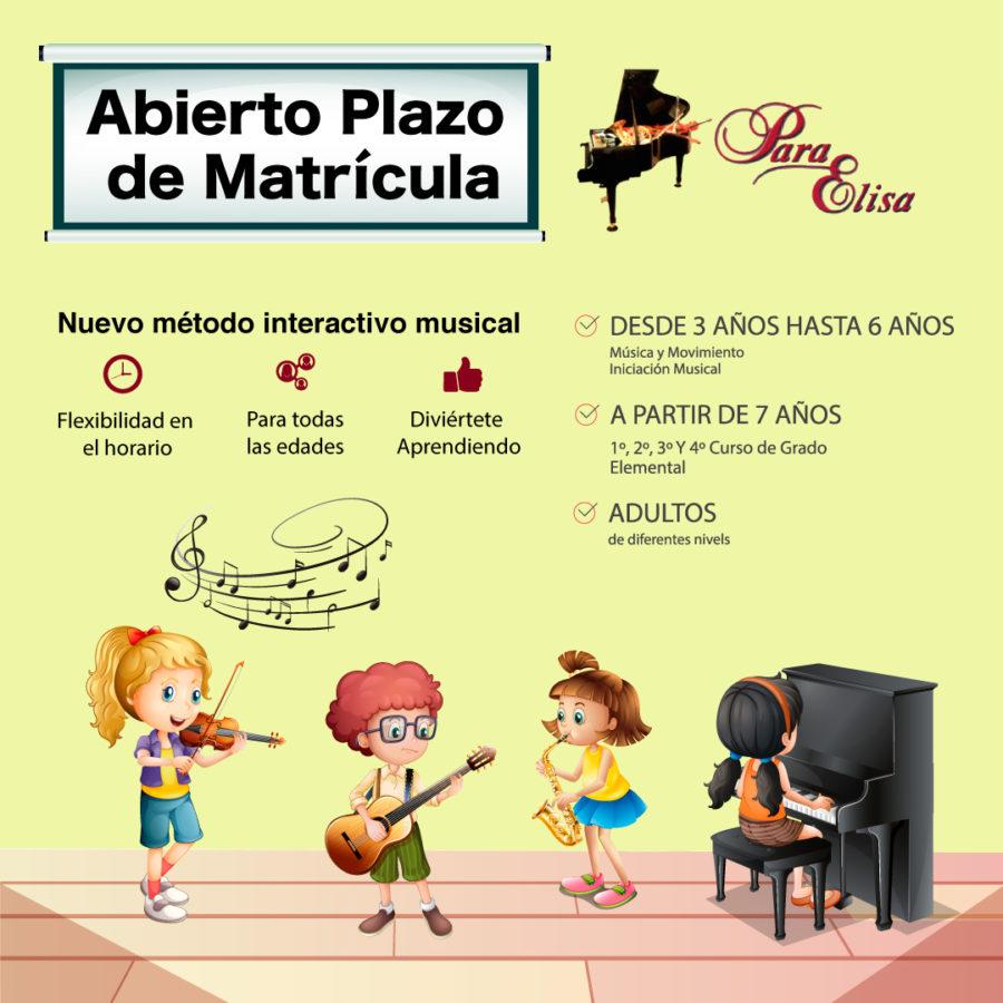 Abierto plazo de matrícula 2019/2020 - Escuela de música