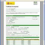 Certificados de empresa