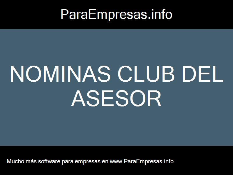 nominas club del asesor