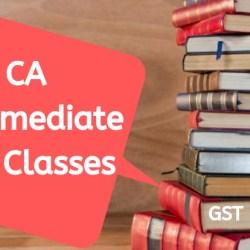 CA Intemediate GST Classes