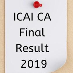 ICAI CA Final Result 2019