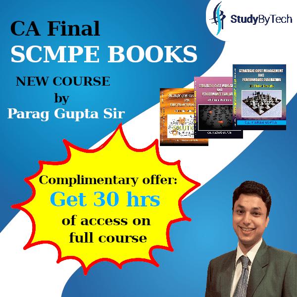 CA Final costing SCM & PE books new syllabus