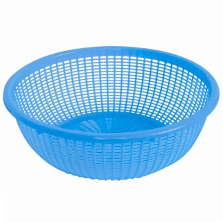 "Thunder Group Round Plastic Colander with Handles, 18.5"" (PLFP001)"