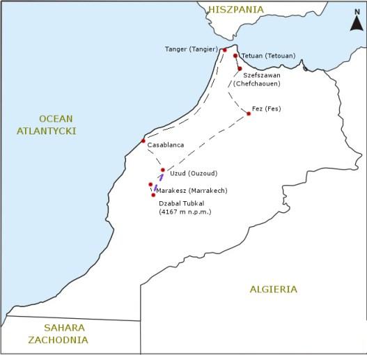 Mapa podrózy 2010