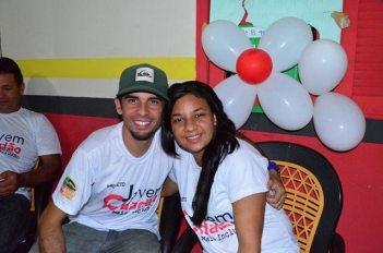 Casal de surdos Rodrigues e Thayla