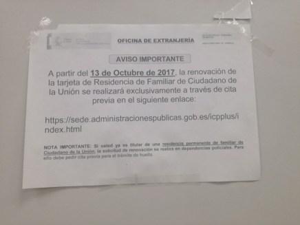 Cita para la renovación de la Tarjeta Comunitaria en Madrid