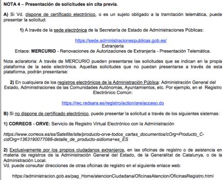 Solicitud de tarjeta comunitarias permanentes: Barcelona