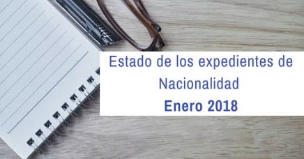Estado de los expedientes de Nacionalidad a Enero de 2018